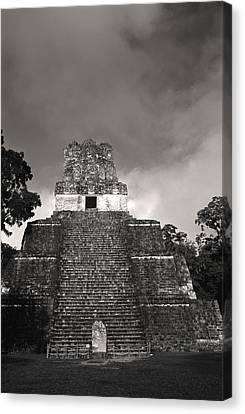 This Is Temple 2 At Tikal Canvas Print by Stephen Alvarez