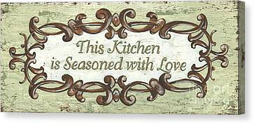 This Kitchen Canvas Print by Debbie DeWitt