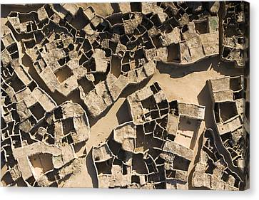 This Old Salt Slab Town In Dirkou Canvas Print by Michael Fay