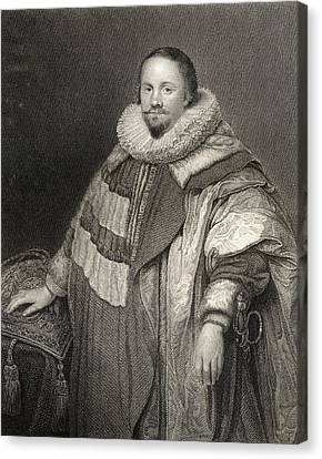 Thomas Coventry,1st Baron Coventry  Of Canvas Print by Vintage Design Pics