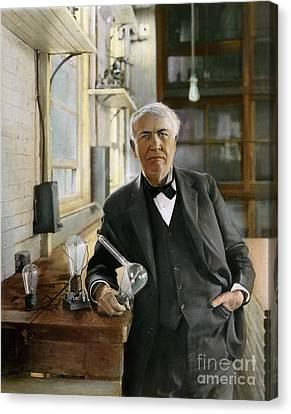 Thomas Edison Canvas Print by Granger