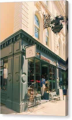 Bloomsbury London Shops Canvas Print by Georgia Fowler