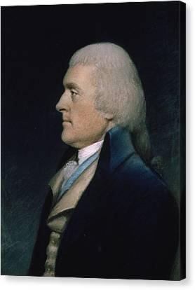 Thomas Jefferson Canvas Print by James Sharples