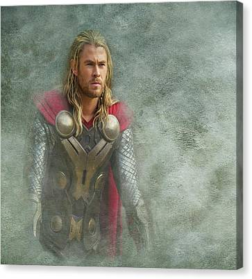 Thor In Asgard  Canvas Print by Movie Poster Prints