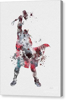Thor Canvas Print by Rebecca Jenkins