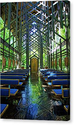 Thorncrown Chapel Serenity Canvas Print by Cricket Hackmann