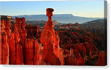 Thor's Hammer In Bryce Canyon At Sunrise Canvas Print by Pierre Leclerc Photography