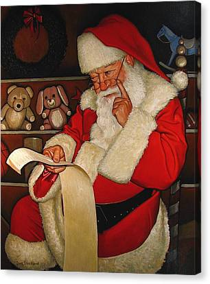 Thoughtful Santa Canvas Print by Doug Strickland