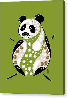 Thoughts And Colors Series Panda Canvas Print by Veronica Minozzi