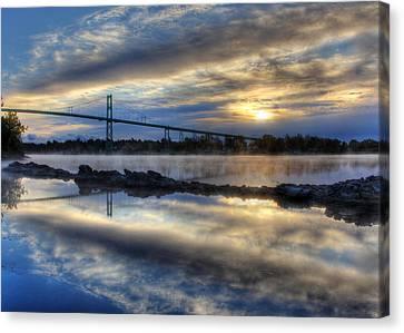 Thousand Islands Bridge Canvas Print by Lori Deiter