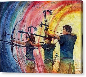 Three 10s Canvas Print by Hailey E Herrera