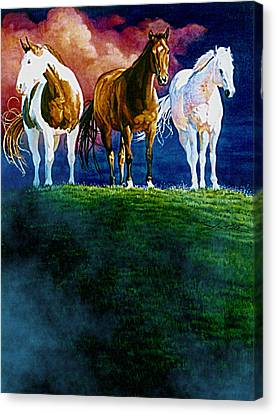 Three Amigos At Sunrise Canvas Print by Hanne Lore Koehler