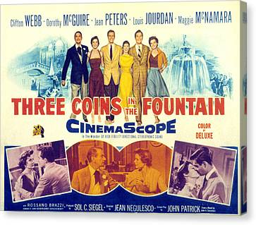 Three Coins In The Fountain, Clifton Canvas Print by Everett