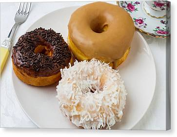 Three Donuts Canvas Print by Garry Gay