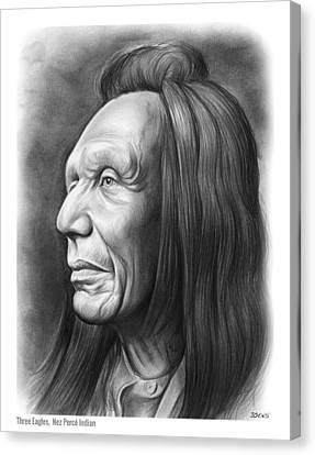 Three Eagles Canvas Print by Greg Joens
