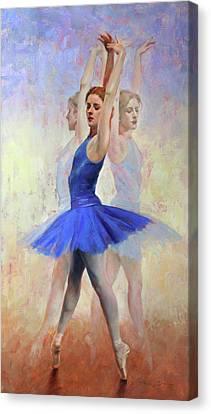 Three Graces Canvas Print by Anna Rose Bain