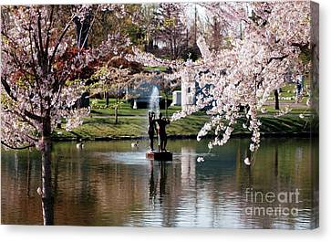 Three Graces Canvas Print by Kathleen Struckle