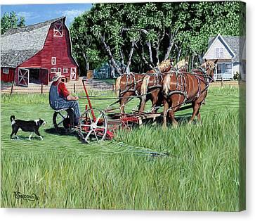 Three Horsepower Canvas Print by Timithy L Gordon