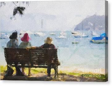 Three Ladies Canvas Print by Avalon Fine Art Photography