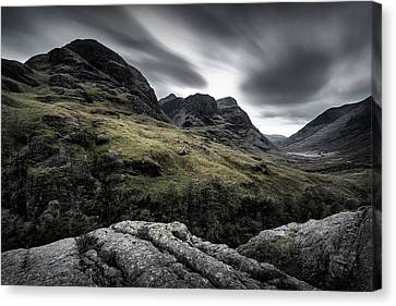 Three Sisters Canvas Print by Dave Bowman