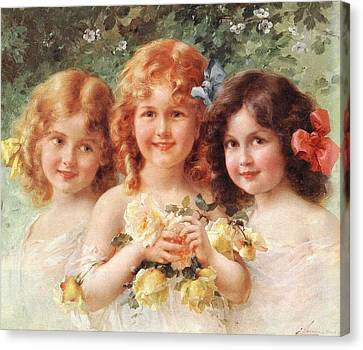 Three Sisters Canvas Print by Emile Vernon