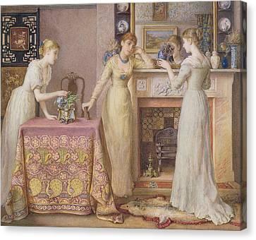 Three Sisters Canvas Print by Gustavus Arthur Bouvier