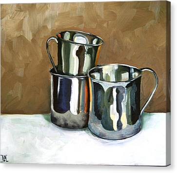 Three Sterling Cups Canvas Print by Amy Higgins
