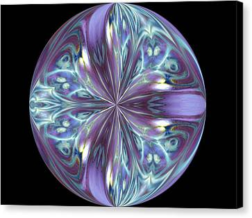 Three Violet Petals Canvas Print by Yvette Pichette