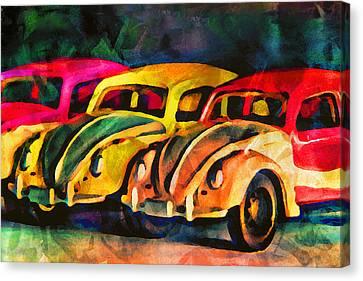 Three Volkswagens Canvas Print by Jeff  Gettis