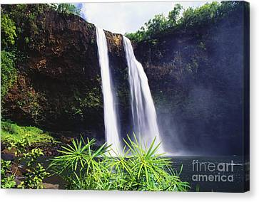 Three Waterfalls Canvas Print by Peter French - Printscapes