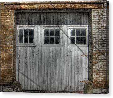 Three Windows Make A Door Canvas Print by Jane Linders