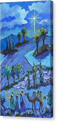 Three Wise Men And The Star Canvas Print by Diane McClary
