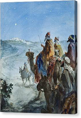 Three Wise Men Canvas Print by Henry Collier