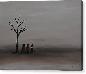 Three's Company Canvas Print by Leana De Villiers