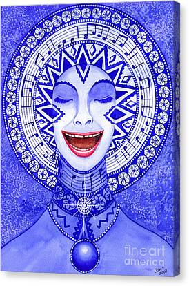 Throat Chakra Canvas Print by Catherine G McElroy