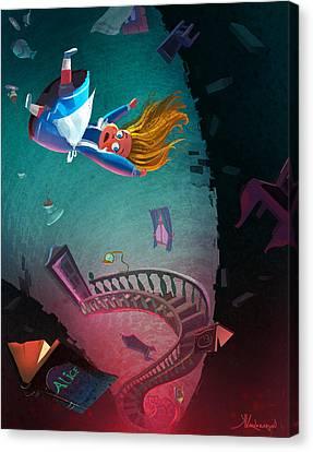 Through The Rabbit Hole Canvas Print by Kristina Vardazaryan
