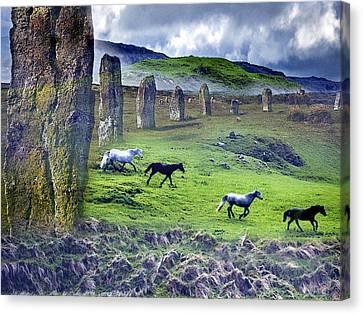 Through The Standing Stones Canvas Print by Vicki Lea Eggen