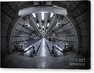 Through The Tunnel Canvas Print by Evelina Kremsdorf