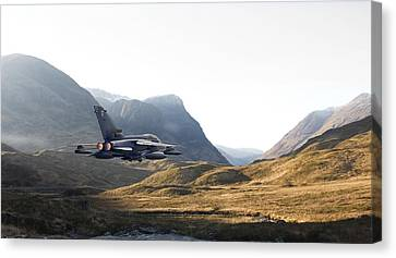 Thunder In The Glen Canvas Print by Pat Speirs