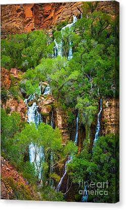 Thunder River Oasis Canvas Print by Inge Johnsson