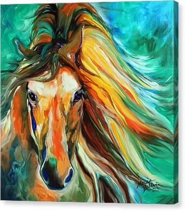 Thunder Run Abstract Canvas Print by Marcia Baldwin
