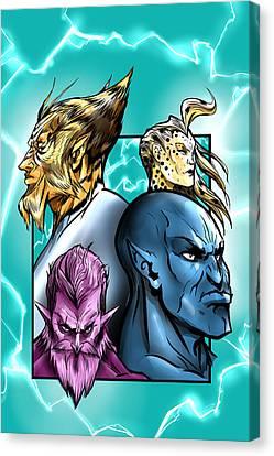 Thundercat Fan Art Canvas Print by Mikey Martinez