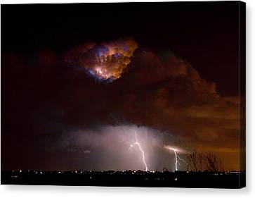 Thunderstorm Boulder County 08-15-10 Canvas Print by James BO  Insogna