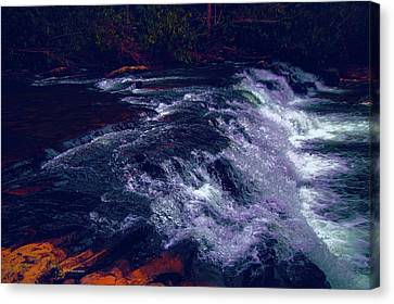 Thundering Waters Canvas Print by Dennis Baswell
