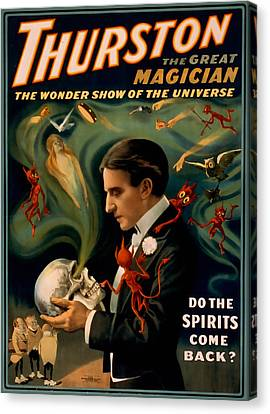 Thurston The Great Magician Canvas Print by David Wagner