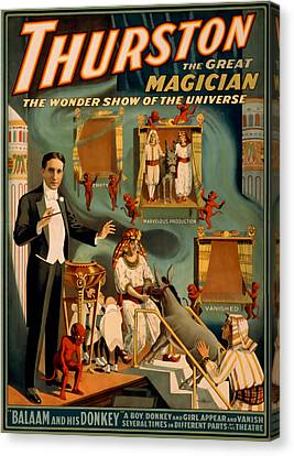 Thurston The Great Magician Wonder Show Canvas Print by David Wagner