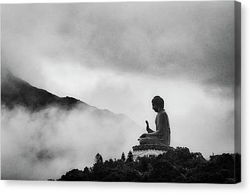 Tian Tan Buddha Canvas Print by picture by Chris Kench Photography