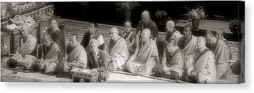 Tibetan Monks Canvas Print by Kate Purdy