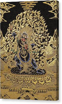 Tibetan Thangka - Vajrapani - Protector And Guide Of Gautama Buddha Canvas Print by Serge Averbukh
