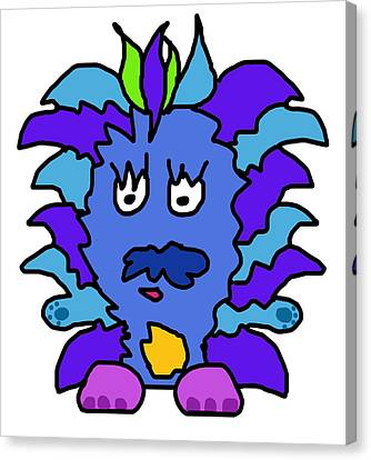 Tickle Monster Canvas Print by Jera Sky